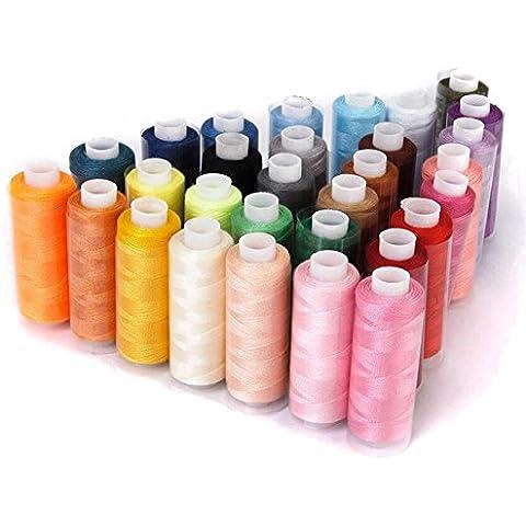 nsrzhp poliestere Rocchetti di filo 30colore 228,6m la macchina da cucire ricamo fili