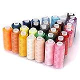 hugee 30colores carrete de hilo de coser de bobina para máquina de coser y Hand