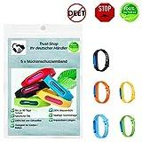Mückenschutz Armband ( 5 Stück ) Mückenarmband natürliche Öle Anti Mosqito Bracelet für Kinder und Erwachsene Wasserdichtes Insektenschutz Armband für Camping, Jogging, Wandern,...