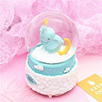 Preisvergleich für Baby-lustiges Spielzeug Karikatur-Elefant-sich hin- und herbewegender Stern-Kristallball-Rotations-Spieluhr für Valentinstag-Geschenk-Stern Headwear