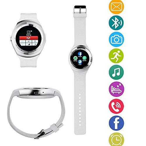 TKSTAR intelligente SmartWatch Bluetooth-Uhr Armband Fitness Tracker Sport Uhr Telefon mit SIM/TF Karte Funktion/Kamera/Text/Telefonieren/Zähler Schritte/Monitor Schlaf/Wecker Vibration Für Android