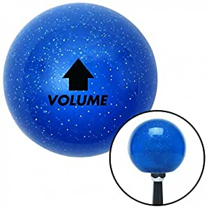 American Shifter 20577 Blue Metal Flake Shift Knob with 16mm x 1.5 Insert Black Volume Up