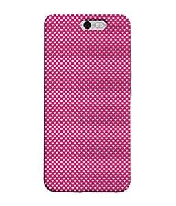 FUSON Designer Back Case Cover for InFocus M812 (Valentine Pink Metallic Hearts Cool Peace Sign Symbol)
