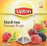 Lipton Schwarzer Tee Waldfrucht Pyramidenbeutel, 20 Stück, 3er Pack (60Stück)