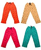 #9: Indistar Kids Baby Boys & Girls Premium Cotton Printed Lowers / Track Pant with 2 open Pockets (Pack of 4)-MultColoured-1-3 Years