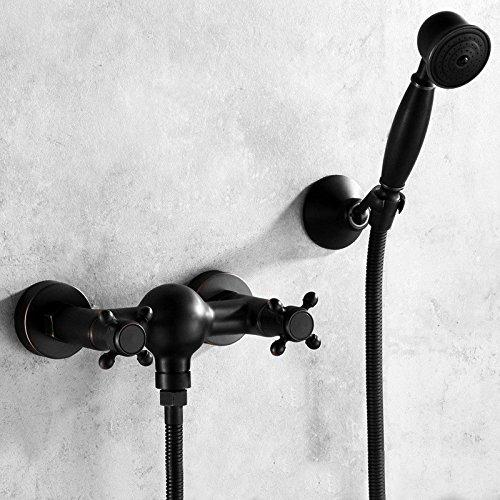 ZXYeuropäischen stil, antike dusche us vintage heiß schwarz shower head, voller kupfer booster...