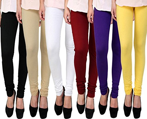 Premium Ultra Soft High Rise Waist Full Length Regular Size - Leggings (Pack of 6)