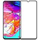 Amazon Brand - Solimo Full Body Tempered Glass for Samsung Galaxy A70, with Installation kit