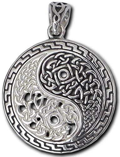 Alterras - Anhänger: Yin Yang mit kelt. Knoten aus 925-Silber
