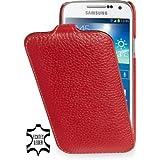 StilGut UltraSlim Case, Tasche aus Leder für Samsung Galaxy S4 Mini (i9195), Rot