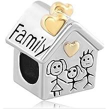 Glückliche Familie - Family Damen Bead für Pandora Schmuck Silber 925
