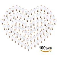100pcs Pinzas de Madera con Corazón 3.5cm Adorno de Fotos Absofine para Celebración Boda Papel Fotográfico Clips de Artesanía Ropa Blanca