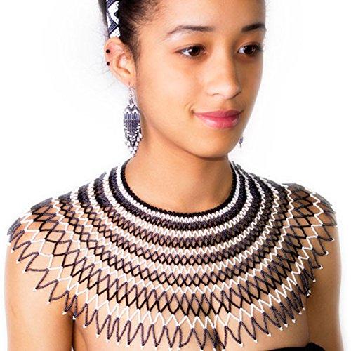 collier-en-perles-traditionnel-de-mariage-sud-africain-zoulou-noir-blanc-gris-fonce