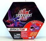Bakugan - 21151 - Battle Brawlers - BAKUTIN Schwarz - Metalldose - bietet Platz für 18 Bakugan und 50 Karten - inkl. 2 Bakugan und 6 Metalportalkarten