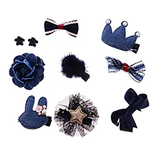 Sharplace Mädschen Haarclip, Haarschleifen Bowknot Clips Haarbögen