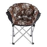 Klappstühle Deckchairs Fold Moon Stuhl Sun Stuhl Leinwand Faule Sofa Runde tragbare Lounge Chair (mehrere Farben) (Farbe : D)