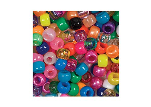 Beads Unlimited Unlimited 6 x 8 mm Schaft, Pony-Mischung, 500 Stück, mehrfarbig
