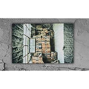 das Fenster Fabrik lost place Leinwand Druck Fotografie 120x80cm Wanddeko Wandgestaltung