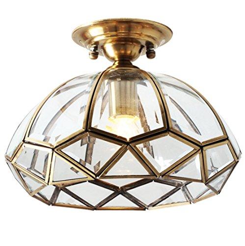Deckenleuchte Kupfer Klein Lampe Messinglampen Flurlampe Deckenlampe Aus Messing Leuchte Retro Licht Nordisch Für Balkon Flur Klassisch E27 Glühlampe Decken Beleuchtung (A)