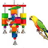 Handfly Knots Block Bird Toys Chewing Toys for Pet Bird Parrot Budgie Parakeet Cockatiel Conure Lovebird Finch African Grey Cockatoo Amazon Cage (Type 4)