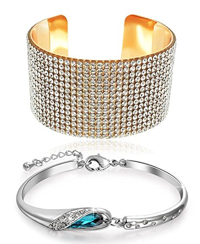 YouBella Jewellery Best Sellers Combo of Crystal Bracelet Bangles Set Jewellery For Girls and Women