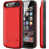 Cofuture Battery Case für iphone6/6s/7/8 Akku Case 5500mAh Ladehülle Externer Backup Akku Hülle Unterstützung Lightning Kopfhörer 4.7 Zoll Rot