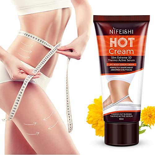 Hot Cream Professional Cellulite Slimming Firming Cream Body Fat Burning Massage Gel Slim Serum For Shaping Waist Abdomen And Buttocks 60ml