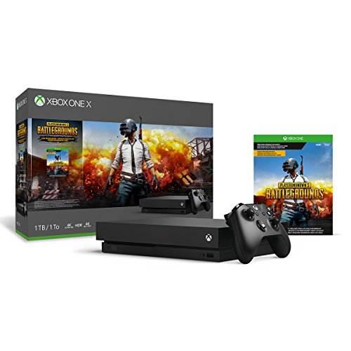 Microsoft - Xbox One X 1TB PLAYERUNKNOWN'S BATTLEGROUNDS Bundle with 4K Ultra HD Blu-Ray - Black