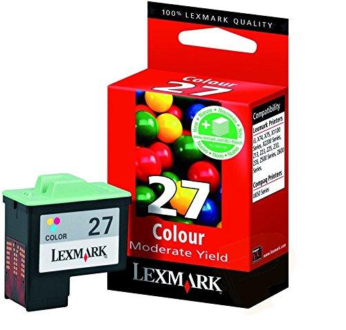 Lexmark 10NX227E n° 27Cartouche d'encre d'origine compatible avec les imprimantes CJZ33/Z13/Z23E/Z34/Z35/I3/AI, couleur