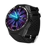 Prom-near Smart Watch 1Go/16Go Android 5.1 MTK6580 Quad Core 1. 39 Pouce Smartwatch avec Bluetooth WIFI GPS SIM Caméra incorporée HD 2.0MP Appliquer à Android IOS Smartphone (Noir, 512M+4G)
