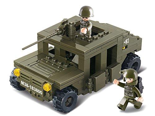 Weltkrieg Lego-sets (Funstones - Baustein Set Army Armee Panzerfahrzeug Auto Fahrzeug Soldaten Bausteine Bausatz Set)
