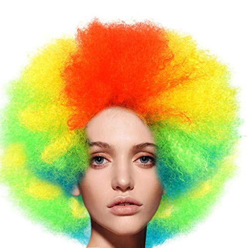 Perücke, Afro-Clownhaar, für Erwachsene, Afro-Kostüm, hochwertig, (Victorian Queen Kostüme)