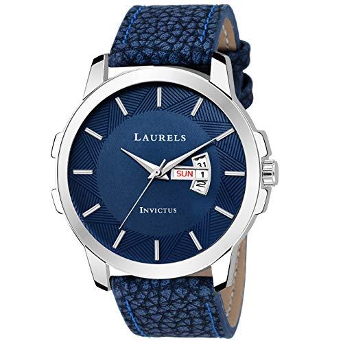 Laurels Lo-inc-603 Analog Blue Dial Men's Watch-Lo-Inc-603