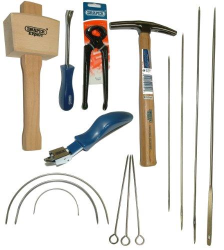 DRAPER Tack Lifter, Heftung Lifter, Mallet, Kneifzange, Arbeitshemd Hammer + Nadel Kit Polstermöbel Kit -