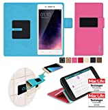 Oppo Neo 7 Hülle in pink - innovative 4 in 1 Handyhülle -