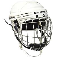 Bauer Helm 2100 Combo mit Gitter - Casco de hockey sobre hielo, color blanco, talla S