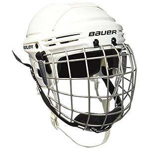 BAUER – Erwachsenen Eishockey Helm Combo mit Gitter 2100 Senior I Schutzhelm für Eishockeyspieler I inkl. Schutzgitter & Kinnschutz I robust & stabil I Eishockeyzubehör für Erwachsene