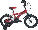 Umit J1450 Bicicleta Infantil, Niños, Rojo/Negro, 14'