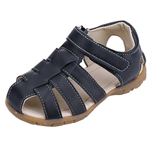 n Junge Mädchen Kinderschuhe Geschlossen Sandalen Kinder Sport Klettverschluss Sommer Schuhe (26, Navy) ()