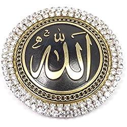 Selbstklebende Wanddeko Wandschmuck Deko - Rund - Allah auf Arabisch Muslim Islam - Glücksbringer