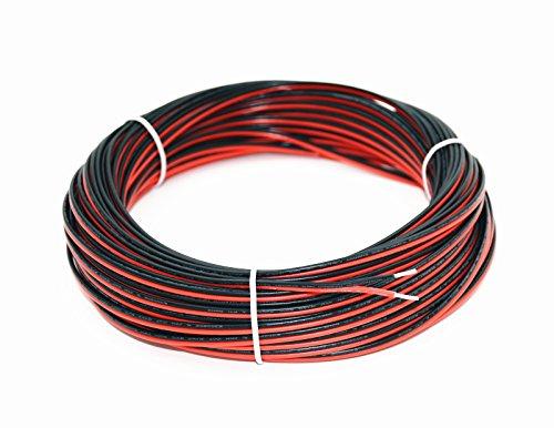 TUOFENG 22 Gauge 25m 2 Pin Verlängerungskabel Kabel für Single LED Streifen Licht 3528 5050