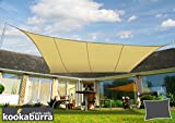 Kookaburra Wasserfest Sonnensegel 5,0m x 4,0m Rechteck Sandfarben