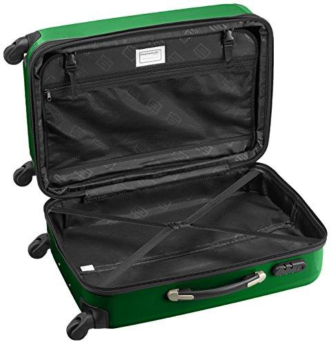HAUPTSTADTKOFFER - Alex - 2er Koffer-Set Hartschale glänzend, 65 cm + 55 cm, 74 Liter + 42 Liter, Graphit-Blau Grün