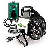 Bio Green Elektrogebläse / Gewächshausheizung mit Digital-Thermostat