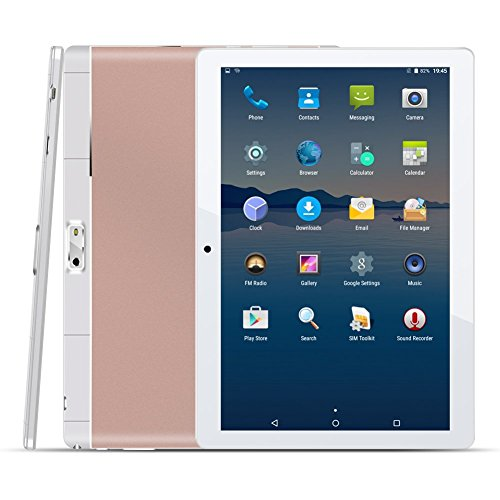 10.1 Zoll 4G Tablet PC,1G RAM +16G ROM,Batteriekapazität 4500mAh,Dual-SIM,IPS HD Display 1280x800,Quad Core CPU,Android 5.1,WIFI WLAN Bluetooth,4 Farben zur Wahl Rosegold von QIMAOO