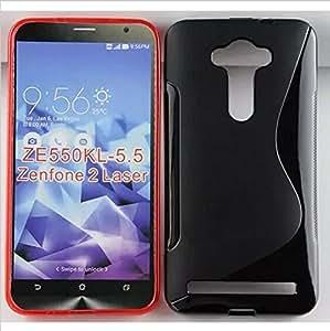 Zenfone 2 laser 5.5 inch Magic Brand S-Line Black Soft Silicon Back Cover Case