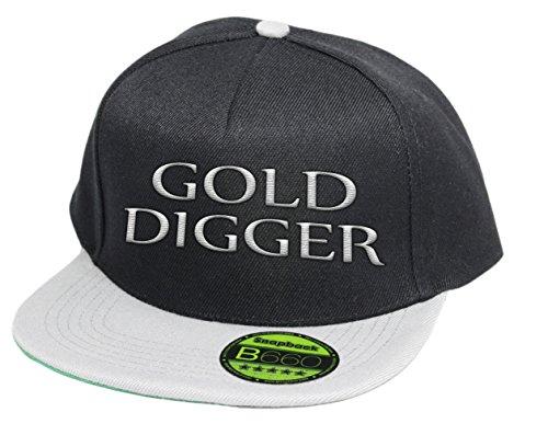 simpleandsweet Golddigger, Snapback Cap, 5 Panel/BlackGrey