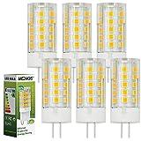 6X MENGS® G4 LED Lampe 4W AC/DC 12V Warmweiß 3000K 33x2835 SMD Mit PC umd Keramik Material