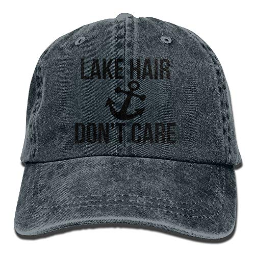 AAPPU Lake Hair Don't Care Denim Hat Adjustable Unisex Classic Baseball Caps -