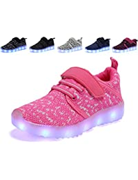 TULUO Niños y Niños y Niñas Zapatos LED Zapatillas de carga USB Niños Zumbadores